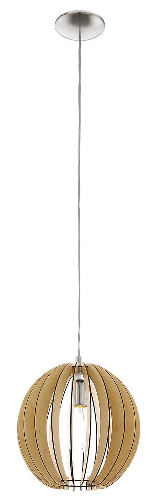 HÄNGELEUCHTE - Ahornfarben, LIFESTYLE, Holz/Metall (30/110cm)