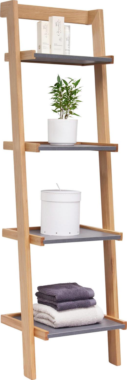 BADEZIMMERREGAL - Eichefarben/Grau, Design, Holz (51/172/42cm) - Novel