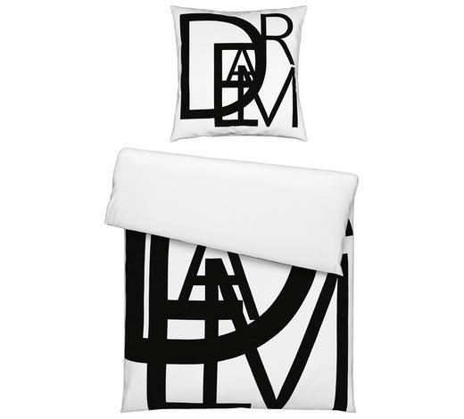 BETTWÄSCHE 140/200 cm - Schwarz/Weiß, Trend, Textil (140/200cm) - Novel