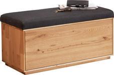 GARDEROBENBANK - Eichefarben/Anthrazit, Design, Holz/Textil (90/45/38cm) - VALNATURA