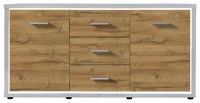 SIDEBOARD 145/80/38 cm  - Eichefarben/Weiß, KONVENTIONELL, Holzwerkstoff (145/80/38cm) - Carryhome