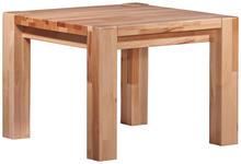 COUCHTISCH Kernbuche massiv quadratisch Buchefarben - Buchefarben, Design, Holz (60/45/60cm) - Linea Natura