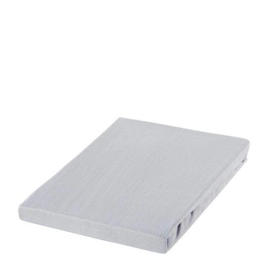 SPANNBETTTUCH Jersey Silberfarben bügelfrei, für Wasserbetten geeignet - Silberfarben, Basics, Textil (180/200cm) - Boxxx