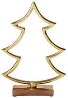 DEKOWEIHNACHTSBAUM  Goldfarben - Goldfarben, Holz/Metall (26cm)