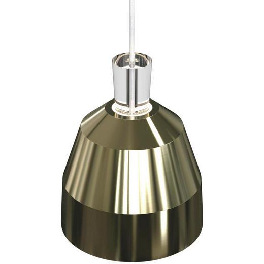HÄNGELEUCHTE - Messingfarben, MODERN, Kunststoff/Metall (25/28cm)