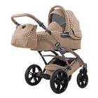 Voletto Tupfen  Knorr-Baby Kinderwagenset  Creme, Sandfarben - Sandfarben/Creme, Basics, Textil/Metall (65/106/99cm)