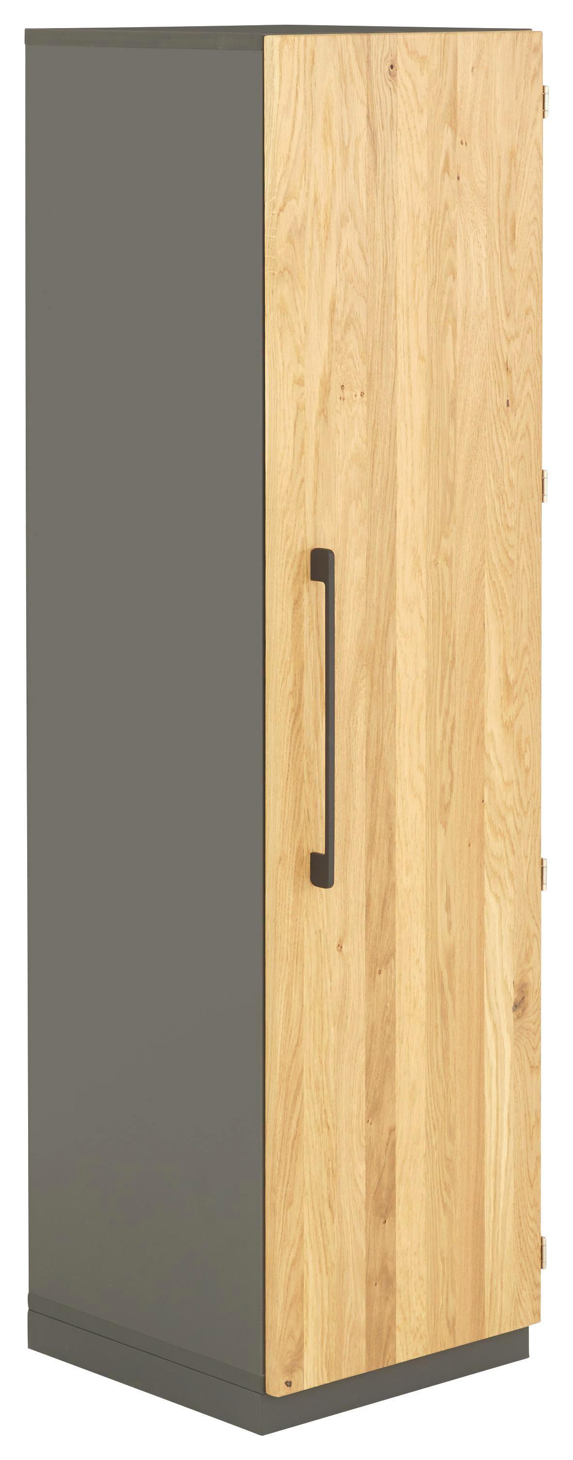 AKTENSCHRANK Eiche massiv Anthrazit, Eichefarben - Eichefarben/Anthrazit, Design, Holz/Holzwerkstoff (40/148,5/41,9cm) - MODERANO