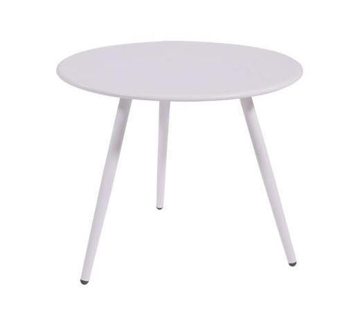 BEISTELLTISCH rund Weiß  - Weiß, Design, Metall (Ø45/36,5cm)