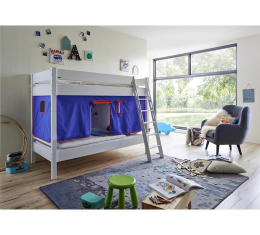 SPIELVORHANG - Blau/Rot, Design, Textil