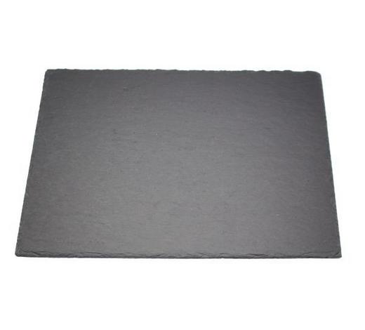 PLATZTELLER 30/40 cm - Schieferfarben, KONVENTIONELL, Kunststoff/Stein (30/40cm) - Ambia Home