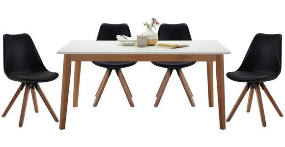 ESSTISCH in Holz, Holzwerkstoff 160/90/75 cm   - Eichefarben/Weiß, Design, Holz/Holzwerkstoff (160/90/75cm) - Hom`in