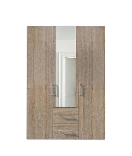 DREHTÜRENSCHRANK 3  -türig Sonoma Eiche - Alufarben/Sonoma Eiche, KONVENTIONELL, Glas/Holzwerkstoff (150/216/58cm) - Hom`in