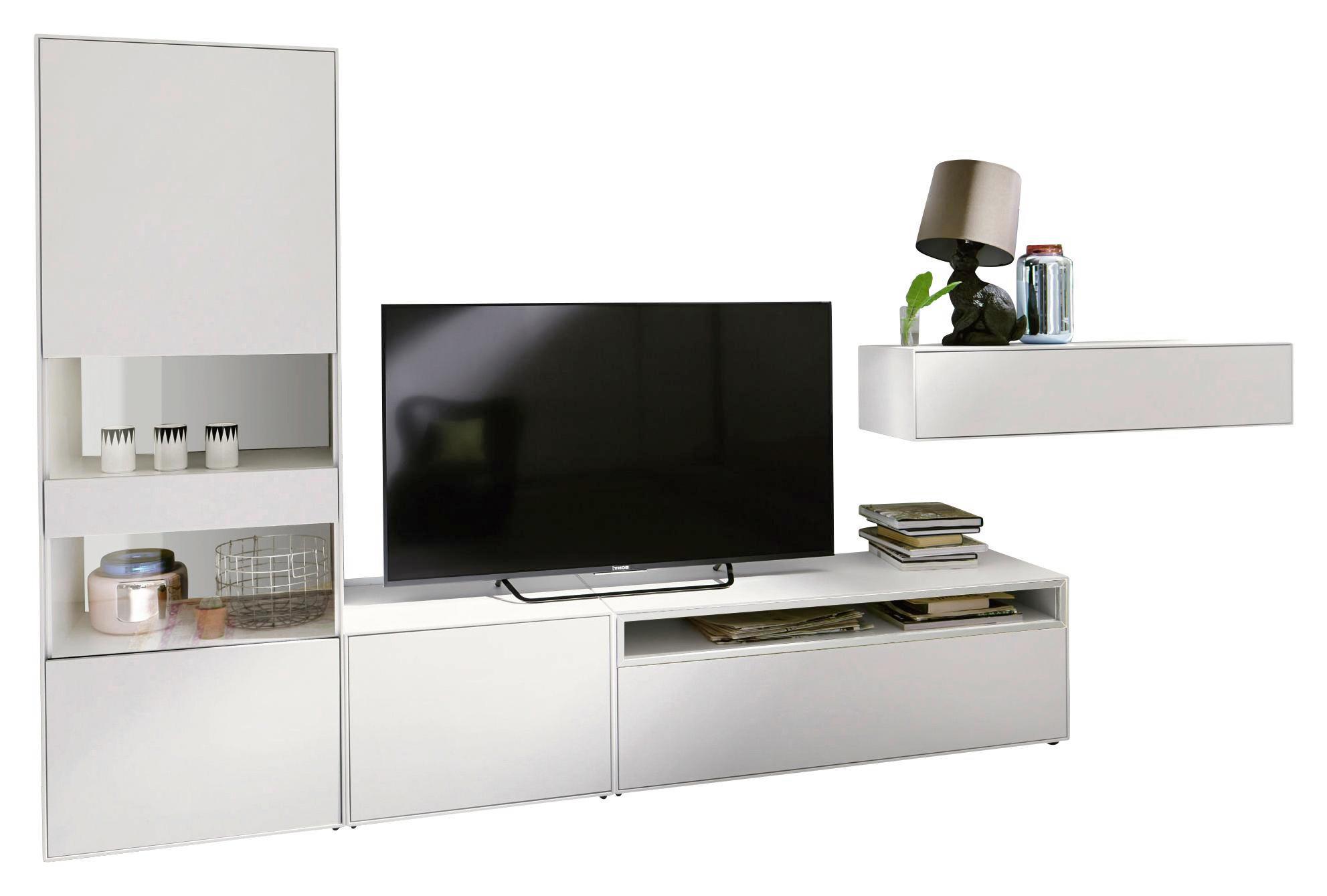 WOHNWAND In Weiß   Schwarz/Weiß, Design, Holzwerkstoff (334/162/