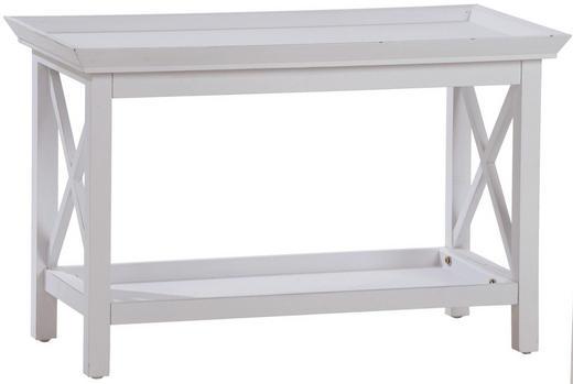 COUCHTISCH Paulownia rechteckig Weiß - Weiß, LIFESTYLE, Holz (80/52/40cm)