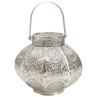 LATERNE - Silberfarben, LIFESTYLE, Metall (22/18/22cm) - Ambia Home