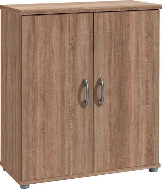 KOMMODE 60/70/30 cm - Eichefarben/Silberfarben, KONVENTIONELL, Holzwerkstoff/Kunststoff (60/70/30cm) - Carryhome