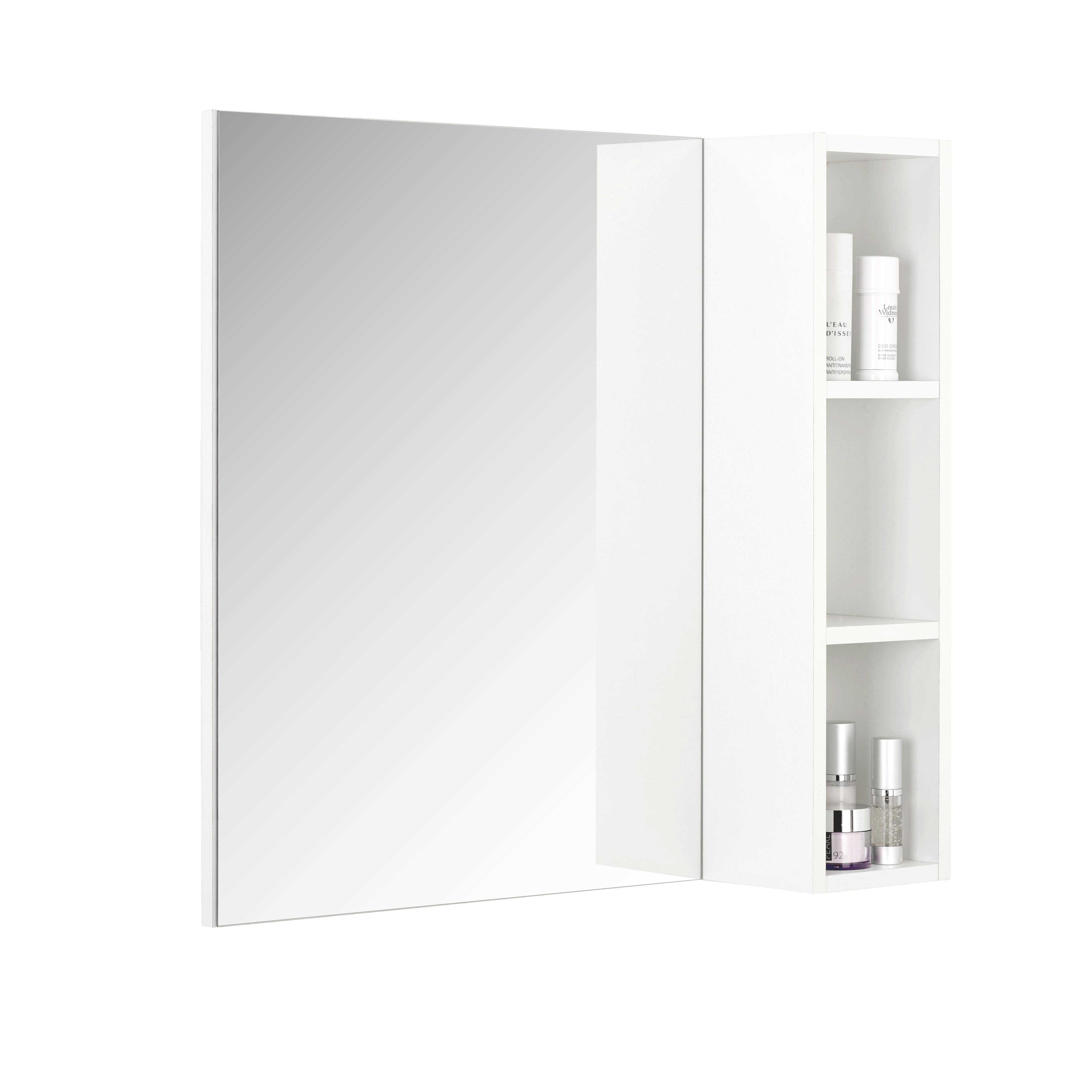 SPIEGEL - Weiß, Design, Glas/Holzwerkstoff (70/65/15,5cm) - XORA
