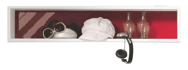 HÄNGEELEMENT Rot, Weiß - Rot/Weiß, Design (100/20,7/17,7cm) - WELNOVA