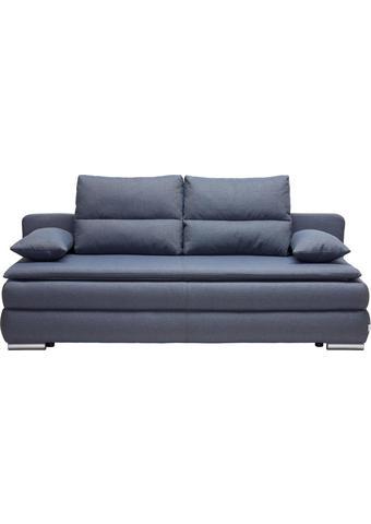 ROZKLÁDACÍ POHOVKA, modrá, šedá, textilie, - šedá/modrá, Konvenční, textilie/umělá hmota (207/94/90cm) - Venda