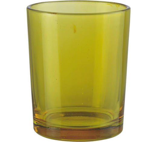 TEELICHTGLAS - Gelb, Basics, Glas (5.5/6.5cm)
