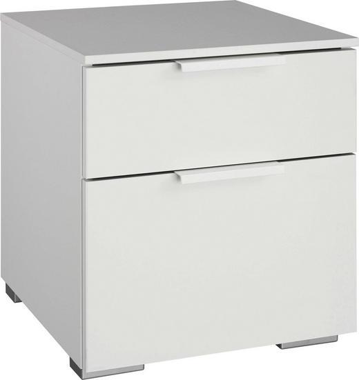 NACHTKÄSTCHEN Wasserlack Weiß - Weiß, Design (40/45/42cm) - Carryhome