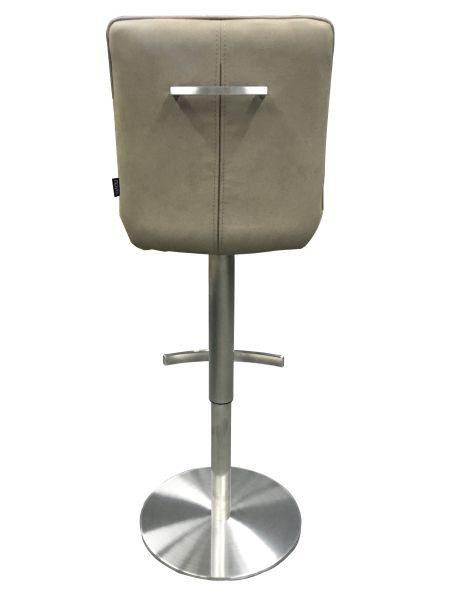 BARPALL - mullvadsfärgad/gråbrun/rostfritt stål-färgad, Design, metall/textil (44/86,5-111,5/54,5cm) - Novel