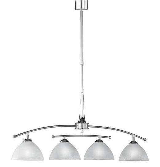HÄNGELEUCHTE - Weiß, KONVENTIONELL, Glas/Metall (85cm)