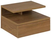 NACHTKÄSTCHEN in Eichefarben  - Eichefarben, Design, Holzwerkstoff (35/22,5/32cm) - Carryhome