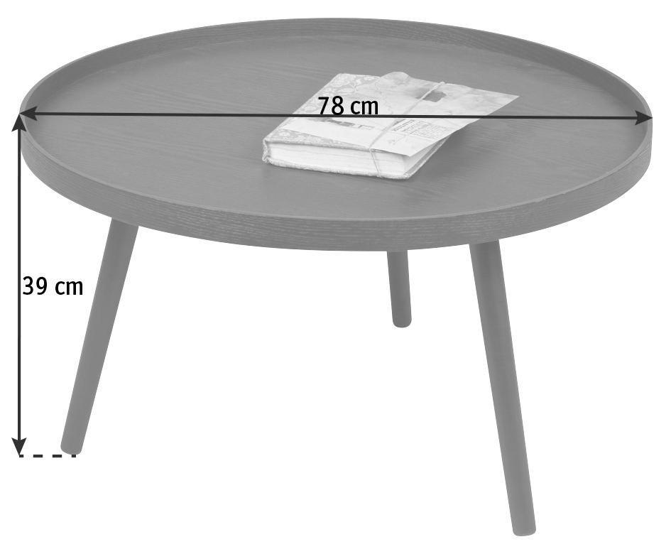 BEISTELLTISCH in Nussbaumfarben - Nussbaumfarben, Design, Holz/Holzwerkstoff (78/78/39cm) - Ambia Home