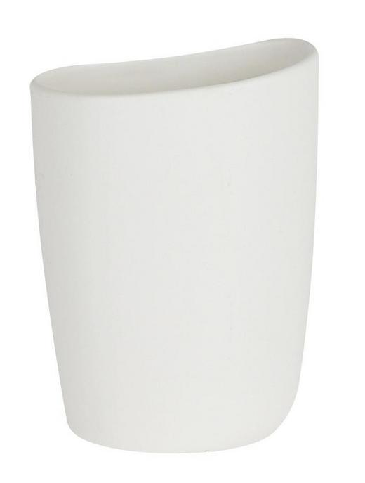 ZAHNPUTZBECHER - Weiß, Basics, Keramik (13cm) - Spirella