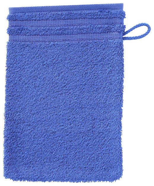 WASCHHANDSCHUH - Blau, Basics, Textil (22/16cm) - VOSSEN