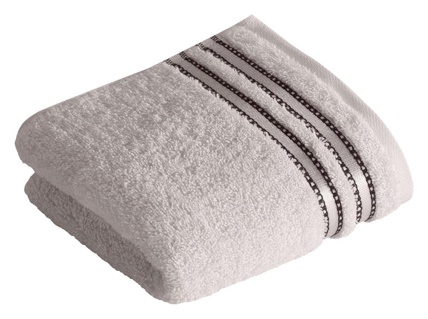 RUČNIK ZA GOSTE - svijetlo siva, Basics, tekstil (30/50cm) - VOSSEN