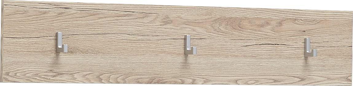 VJEŠALICA ZIDNA - boje hrasta, Design, drvni materijal (90/18/2cm) - XORA
