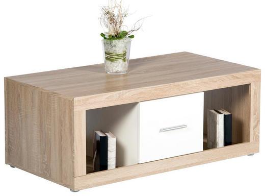 COUCHTISCH Eichefarben, Weiß - Eichefarben/Weiß, Design (115/60/48,6cm) - Carryhome