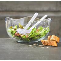 Salatschüssel-Set 3-teilig Glas  - Klar, Basics, Glas (26/13cm) - Homeware