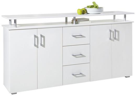 SIDEBOARD Weiß - Silberfarben/Alufarben, Design, Holzwerkstoff/Kunststoff (180/90/40cm) - CARRYHOME