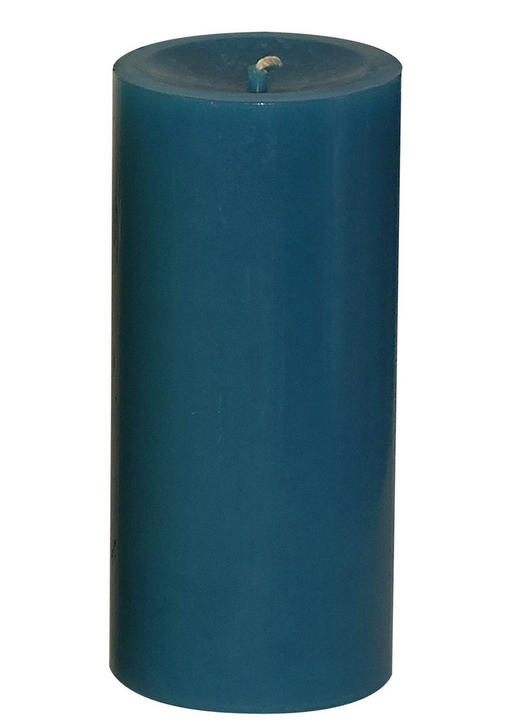 STUMPENKERZE - Blau, Basics (15/6,8cm) - Ambia Home
