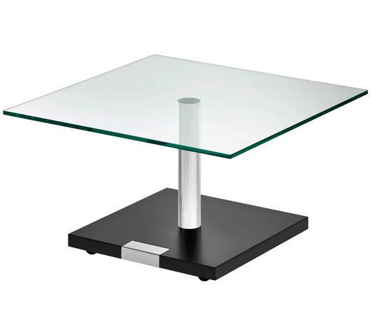 COUCHTISCH in Metall, Kunststoff, Glas, Holzwerkstoff 75/75/46-62 cm - Schwarz, Design, Glas/Holzwerkstoff (75/75/46-62cm)