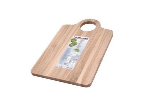 DRVENA DASKA ZA REZANJE - natur boje, Basics, drvo (40/26/1,4cm)