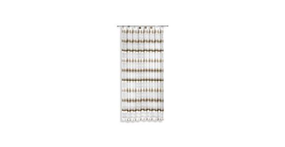 Vorhang mit Schlaufen und Band Fianna B: 140cm, Braun/Weiß - Braun, KONVENTIONELL, Textil (140/245cm) - Luca Bessoni