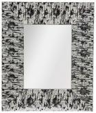STANDSPIEGEL - Silberfarben/Weiß, Trend, Glas/Holz (32,5/38,5/2,1cm)