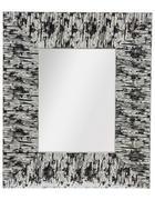 STANDSPIEGEL 32,5/38,5/2,1 cm  - Silberfarben/Weiß, Trend, Glas/Holz (32,5/38,5/2,1cm)