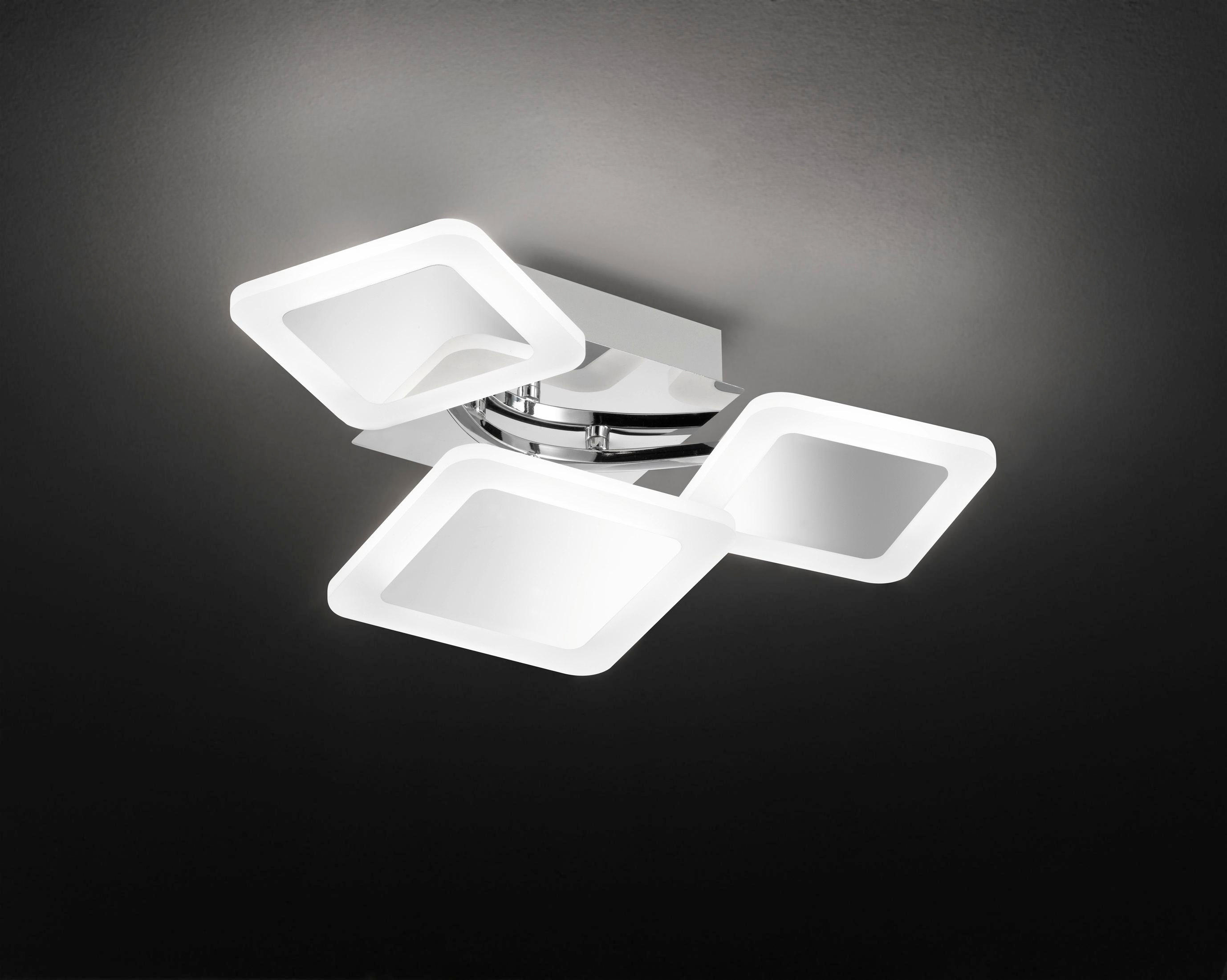 LED-DECKENLEUCHTE - Chromfarben, Design, Kunststoff/Metall (24,5/10,5/16,5cm)
