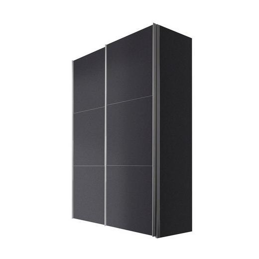 SCHWEBETÜRENSCHRANK 2-türig Graphitfarben - Graphitfarben/Alufarben, KONVENTIONELL, Holzwerkstoff/Metall (150/216/68cm) - Hom`in