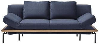 SCHLAFSOFA in Textil Blau  - Blau/Schwarz, MODERN, Textil/Metall (214/89/103cm) - Dieter Knoll