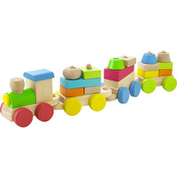 Spielzug - Multicolor, Natur, Holz (40/8/6cm) - My Baby Lou