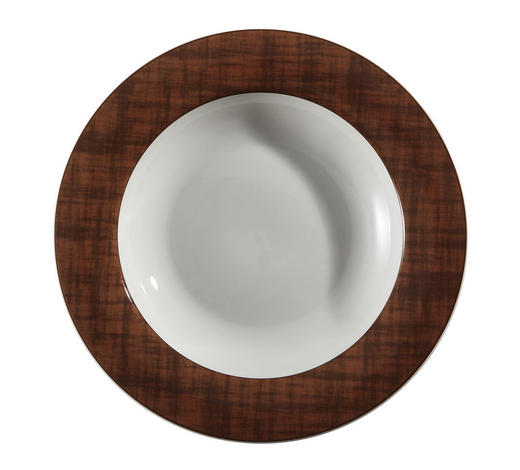TALÍŘ NA POLÉVKU - bílá/hnědá, Basics, keramika (21,5cm) - Landscape