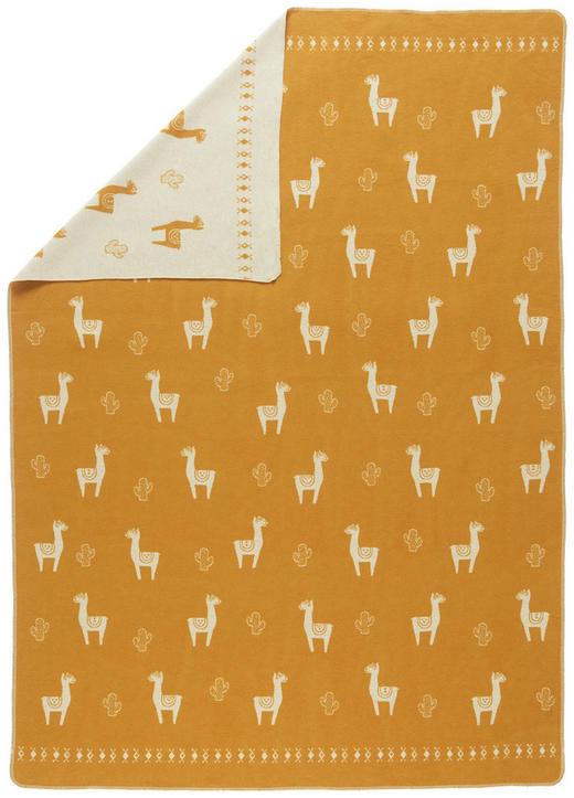 DECKE - Goldfarben/Weiß, LIFESTYLE, Textil (140/200/cm) - David Fussenegger