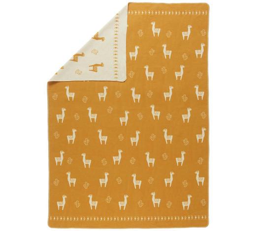 DECKE 140/200 cm - Goldfarben/Weiß, LIFESTYLE, Textil (140/200cm) - David Fussenegger