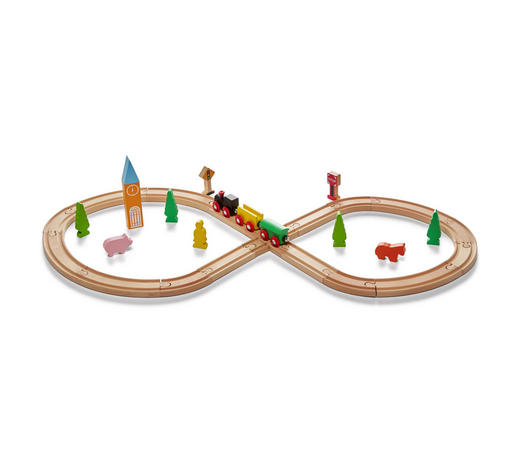 SPIELZUG - Multicolor, Natur, Holz (31/14/6cm) - My Baby Lou